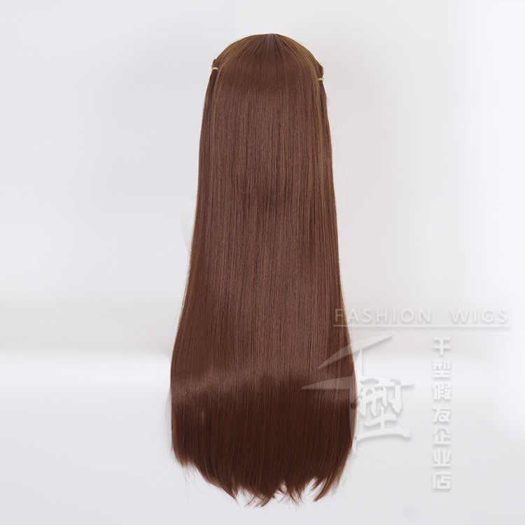 פירות סל Tohru הונדה Cosplay תלבושות פאות ארוך ישר חום מסיבת שיער אבזרי לוליטה ילדה ליל כל הקדושים סינטטיים שיער + כובע