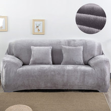 Plush fabirc Sofa cover 1/2/3/4 seater thick Slipcover couch sofacovers stretch elastic cheap sofa covers Towel wrap covering(China)