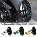 Para kawasaki z1000 z1000sx 2010 2011-2015 2016 acessórios da motocicleta cnc liga de alumínio roda traseira pneu fender suporte paralama