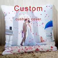 Personalizado cojín con tu boda fotos elegir su logotipo de texto o imagen 18 personalizado funda de almohada para sofá cama silla