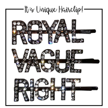 Crystal Word ROYAL Hairpin Girl Hair Clips Wedding Bridal Accessories Unique Personalized Letters Barrettes Pins