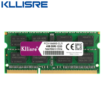 Kllisre DDR3L 4GB 1333 1600Mhz 204Pin Laptop Memory SODIMM PC3L Notebook Ram DDR3