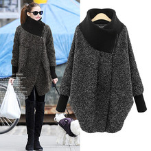 Hodisytian Winter New Fashion Women Jackets Casual Loose Wool Blends Long Ladies