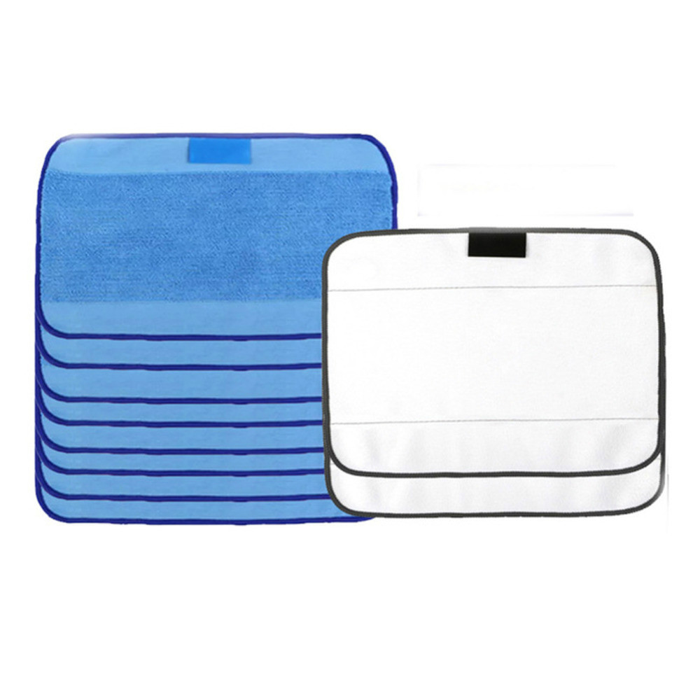 Microfiber 8pcs Wet & 2pcs Dry Dweeping Pro-Clean Mopping Cloths for Robot irobot Braava Minit 4200 5200 5200C 380 380t