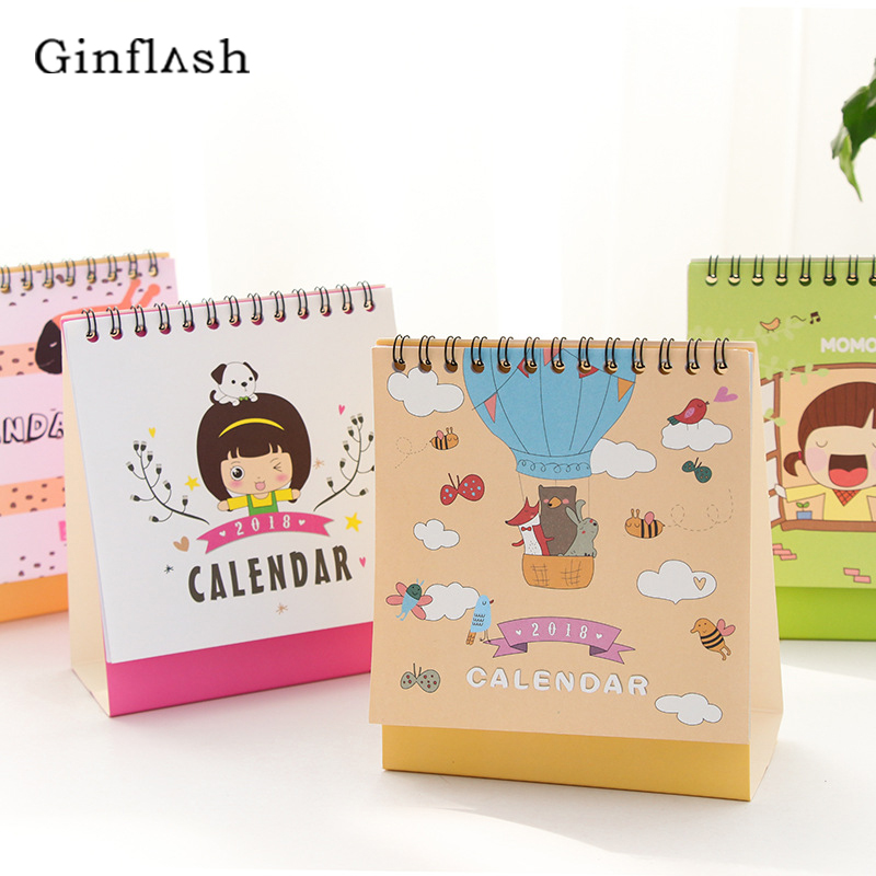 cute lovely Table Calendar DIY Daily Agenda 2017 Daily School and Office Supplies Gifts color random