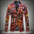 Горячая 2016 осень и зима новый высокие мужчины качество вскользь костюм платье Модератор мужской этап певица показать Блейзеры Костюмы куртки