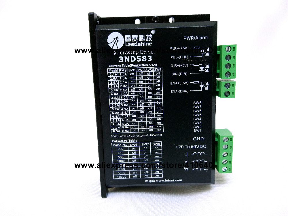 Free shipping Leadshine 3ND583 3 pieces per lot 3 Phase Analog Stepper Drive Max 50 V 8.3A High performance low noise free shipping 10pcs lot lm1117t 3 3 p low dropout voltage regulator lm1117 3 3v dip to 220 new original
