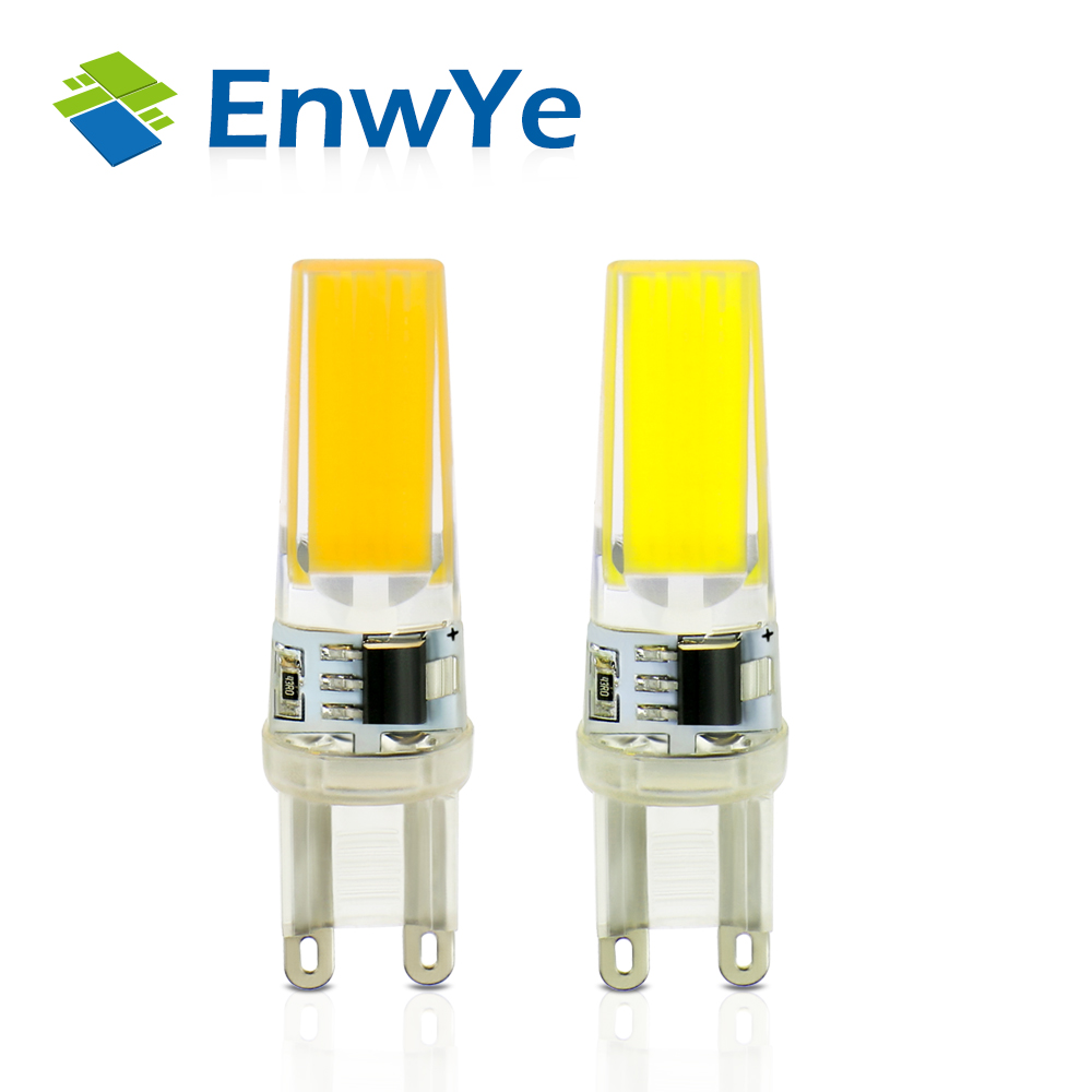 EnwYe 10PCS/lot LED G9 Lamp Bulb Dimming 220V 9W COB SMD LED Lighting Lights replace Halogen Spotlight Chandelier led g4 g9 lamp bulb ac dc dimming 12v 220v 6w 9w cob smd led lighting lights replace halogen spotlight chandelier