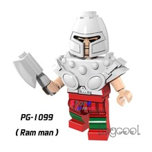 1PCS model building blocks action figures starwars superheroes Ram Man HE-Man MASTERS Fantastic game diy toys for children gift(China)