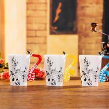 24 стиль высокое качество Творческий Гитары барабан фортепианной музыки рукоятка кружка Керамика кружка Кофе Чай чашки/подарок новинка