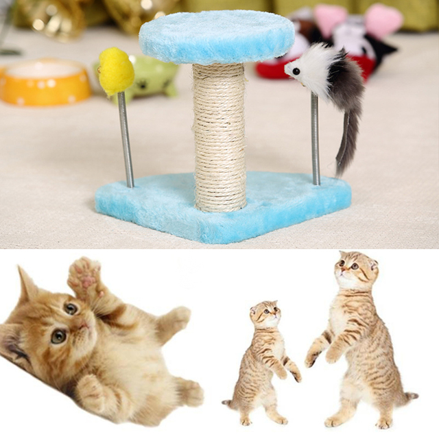 Cat Toy Scratching Post Wood Climbing Tree Ball Cat Toy Climbing ...