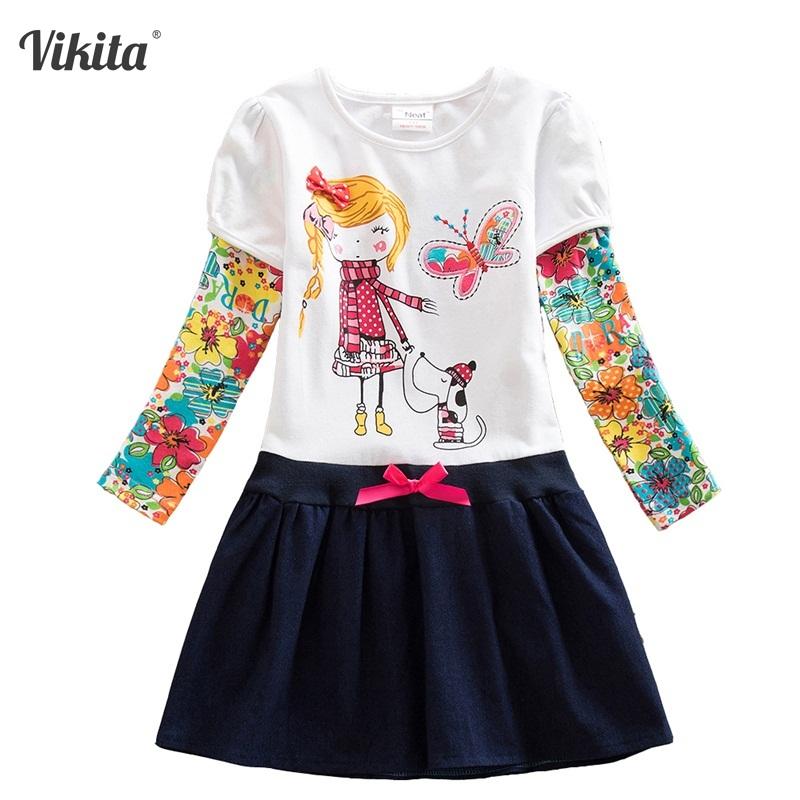 2-8Y Retail Girls Winter Dresses Girls Dresses Baby Children Tutu Dress Princess Dresses Children Wear Neat H5926 Mix 4 8y retail dress for girls baby girl children tutu dresses princess party dresses vestidos kids girls clothes neat sh5460 mix
