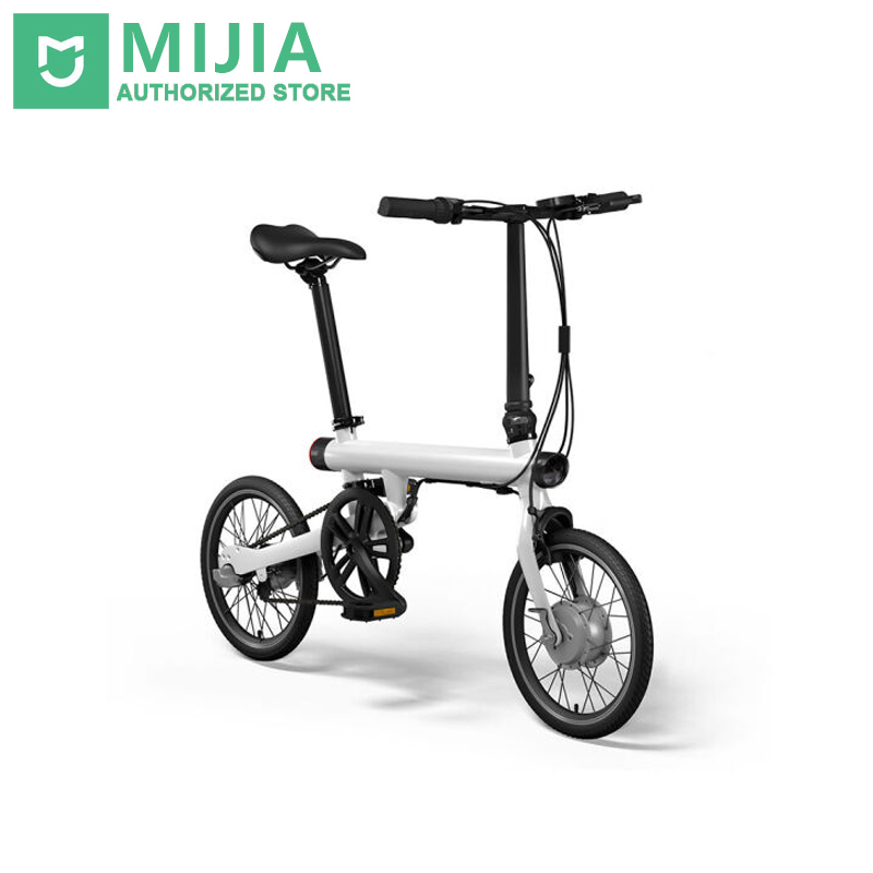 Genuine xiaomi smart electric bicycles bike portable mijia Qicycle e bike foldable pedelec ebike 18 TFT screen monitor vehicle купить