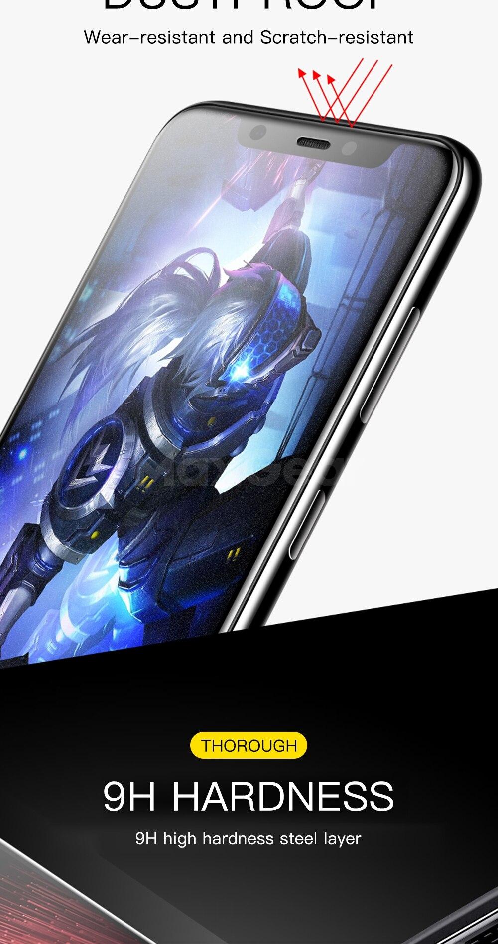 9D matowy matowe szkło hartowane dla Xiao mi mi 9 8 SE A2 Lite 5X 6X Pocophone F1 mi x 2 S mi x3 pełna pokrywa folia ochronna na ekran 9