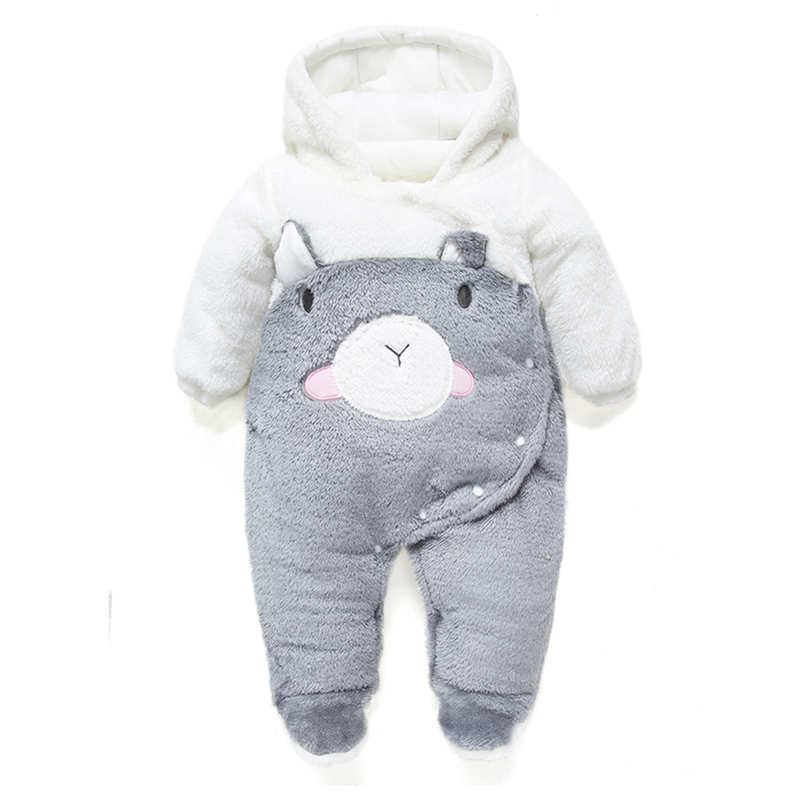 Newborn Baby Girls Clothing Coral Fleece Winter Boy warm Rompers Cartoon Infant Clothes Pig Down Snowsuit Babies thick Jumpsuits 2015 autumn winter hot sale coral fleece baby boots baby shoes branded newborn infant shoes for babies soft shoes girl hk492