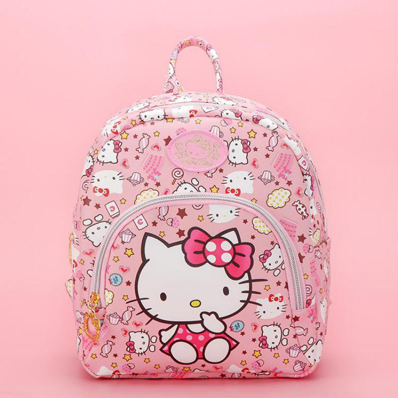 52a9b4482662 Fashion Cartoon Pink Hello Kitty Backpacks Cute Small Bags Children  Schoolbag Kids Toy For Girls Birthday Gifts Good Quality