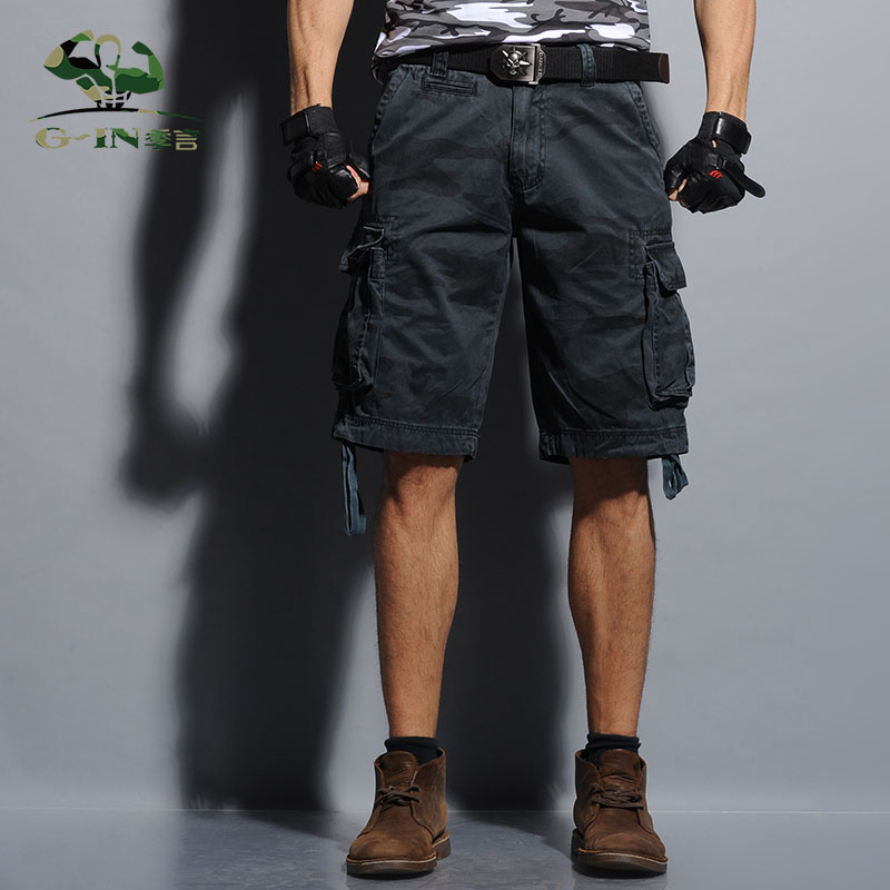 Men cargo Shorts Bermuda Masculina 2016 Summer Men Casual Cargo Shorts men Camo Cargo Shorts Military Camouflage Short