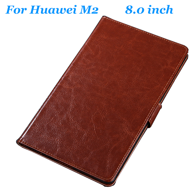 Genuine Leather Case High Quality For Huawei M2 8.0 inch Leather Case Flip Cover for Huawei M2 8.0 Case Cover case Tablet PC