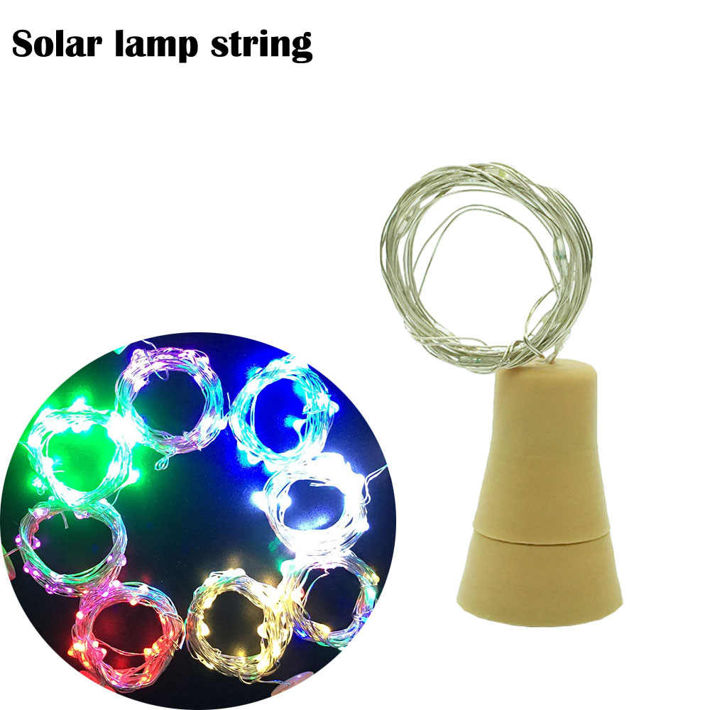 1m LED Solar Lamps Copper Wire Fairy String Patio Lights Waterproof Garden Christmas Wedding Party Decoration Outdoor