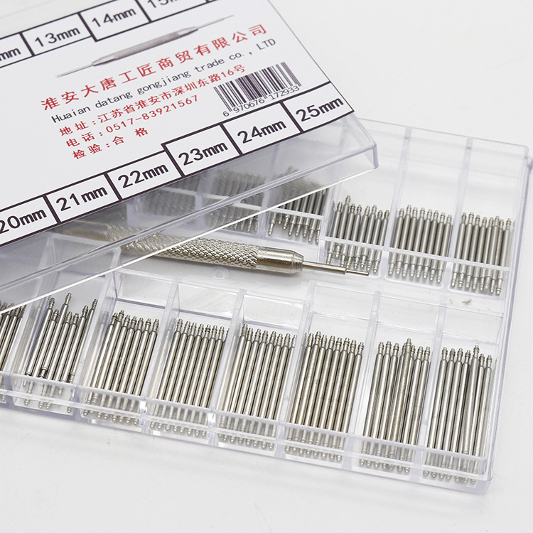 HOT 270pcs 8-25mm 18 Specifications Watch Band Spring Bars Strap Link Pins Repair Watch Link Pins Tool Sets  Watch Shaft