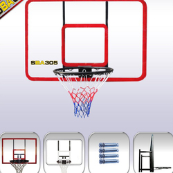 120*80CM Red wall type PC board basketball rack