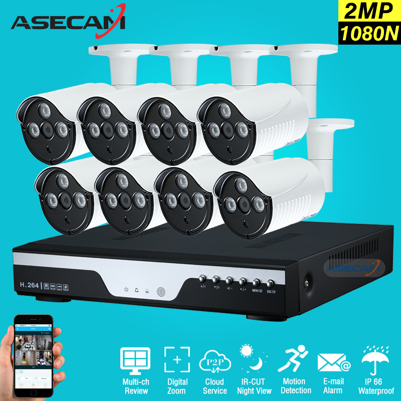 New 8Channel CCTV Camera System 8ch DVR HD AHD 2MP Home Outdoor Security Camera System K ...