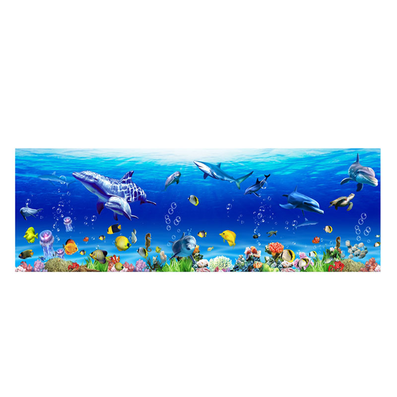 1 Pcs Wall Sticker PVC Removable Waterproof Sea World Decoration for Living Room Bedroom TT-best image