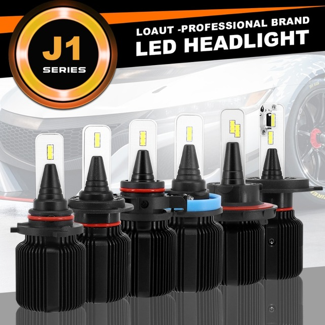LOAUT J1 PSX24W PSX26W H16W P13W H4 H7 H11 H13 9004 9005 9006 9007 9012 Car LED Headlight Bulbs Hi-Lo Beam 50W 8000LM 6000K 24V