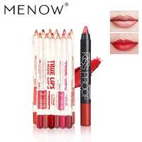 MENOW Makeup Set 12 Colors Lip Liner Pencil And Hot Sale Kiss Lipstick Waterproof Long Lasting