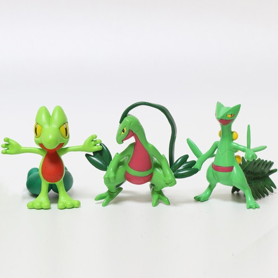 Original Treecko Grovyle Sceptile anime cartoon action & toy figures Collection model toy KEN HU STORE pokemones anime ash ketchum gym badges badge brooch small squirtle bulbasaur figures toy zinic alloy brooch action figures toy