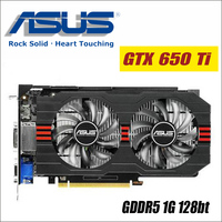 ASUS Graphics Card Used Original GTX 650 Ti 1GB 128Bit GDDR5 Video Cards For NVIDIA Geforce