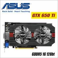 ASUS Graphics Card Used Original GTX 650 Ti 1GB 128Bit GDDR5 Video Cards For NVIDIA Geforce