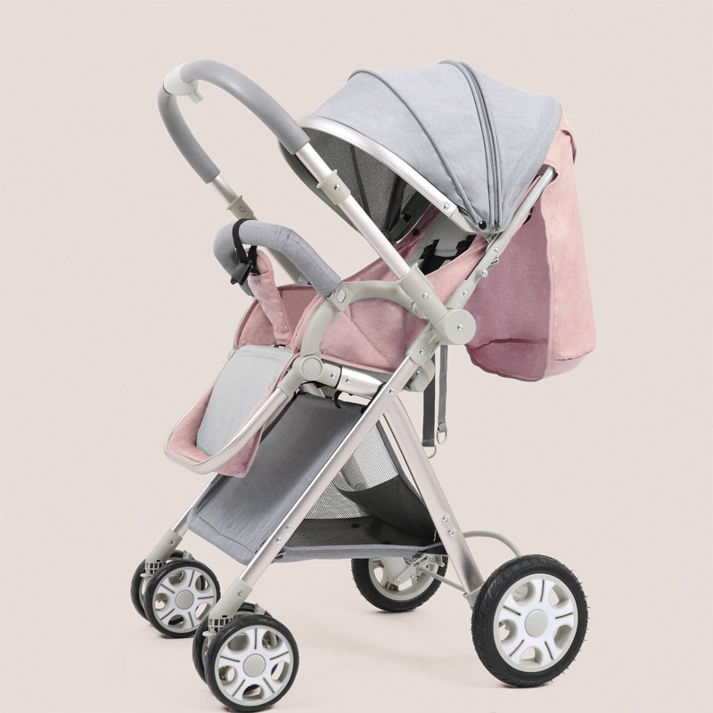 High landscape baby push sitting lie ultra light portable folding child two-way baby child umbrella baby stroller ultra light portable shock absorbers bb child summer baby hadnd car umbrella