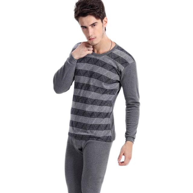 Envío gratis Nuevos hombres de las llegadas de algodón conjuntos de ropa interior térmica Cómodos transpirable traje de ropa interior de invierno Cálido 26yw