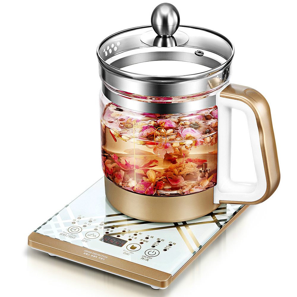 Curing pot Full automatic multi-function thick glass traditional Chinese medicine branch electric kettle Overheat Protection curing pot full automatic multi function add thick glass traditional chinese medicine branch a teapot electric kettle