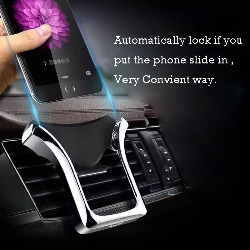Image 2 - Air vent phone Holder Gravity phone Stand Universal for iPhone Samsung for Xiaomi redmi Huawei HTC in Car Air vent Mount Bracke-in Phone Holders & Stands from Cellphones & Telecommunications