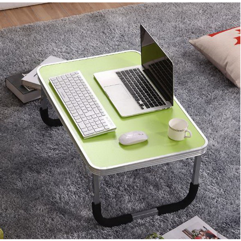 250308/Home bed with simple desk /Folding mobile small desk/High quality desktop/Thicker pipe/Lazy bedside laptop desk / 250309 folding mobile small desk home bed with simple desk paint steel pipe humanized design lazy bedside laptop desk