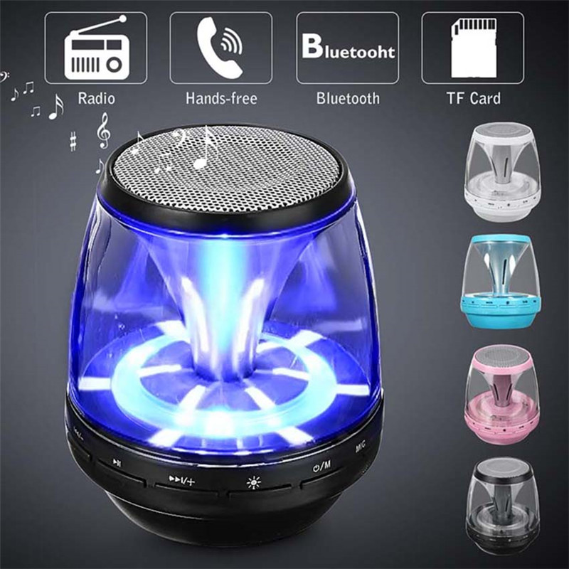 Led Light Bluetooth Speaker Portable Wireless Loudspeaker