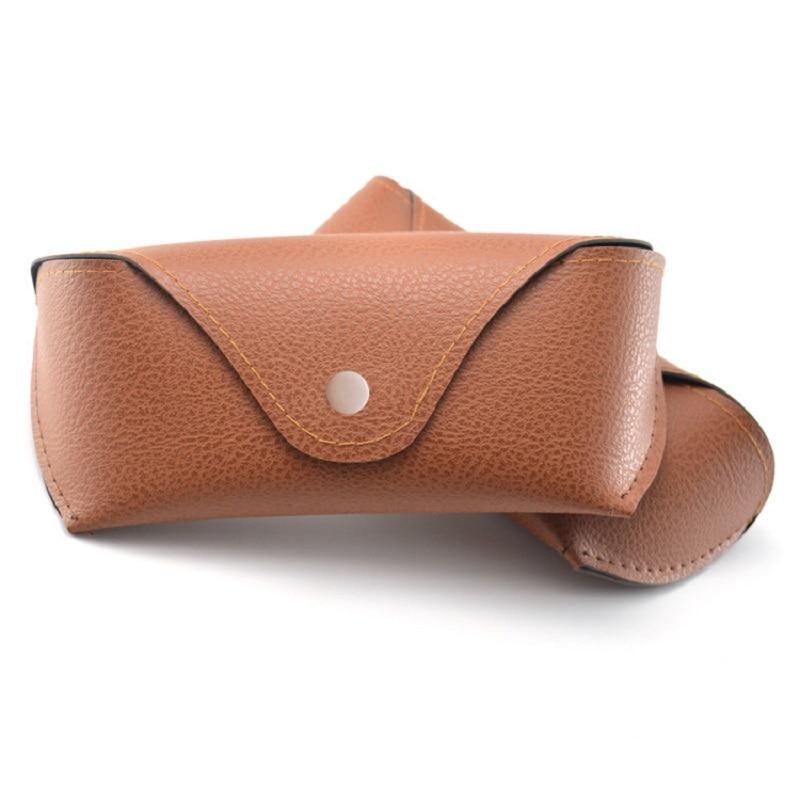 LOVINGFANG PU kožna sunčana naočala slučaj Muškarci Brand Retro naočale slučaj za žene Lichee uzorak naočala Case Box Božićni dar
