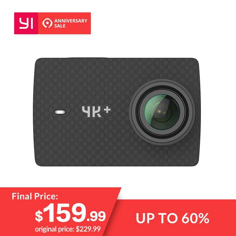 YI 4 K + (Plus) caméra d'action Internationale Édition PREMIÈRE 4 K/60fps Amba H2 SOC Cortex-A53 IMX377 12MP CMOS 2.2 PMA RAM EIS WIFI
