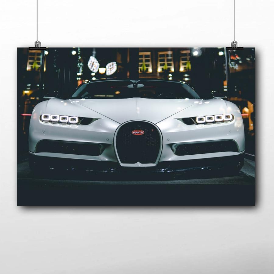 BUGATTI CHIRON SUPER CAR Canvas Wall Art Framed Print Various Sizes