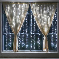 6 * 2m 384 Bulbs LED Curtain Light Christmas Lights Outdoor Decoration For Party Holiday New Year Garland Light Wedding lights
