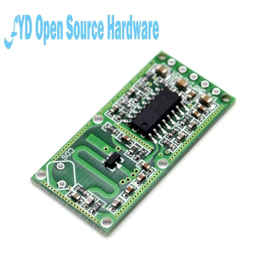 """5 יחידות חכם אלקטרוניקה RCWL-0516 חיישן מכ""""ם מיקרוגל חיישן מודול חכם מודול מתג אינדוקציה גוף אדם"""