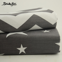 Wave And Star Pattern 2 PCS 50cmx160cm Pre Cut Two Different Color Cotton Fabric Fat Quarter