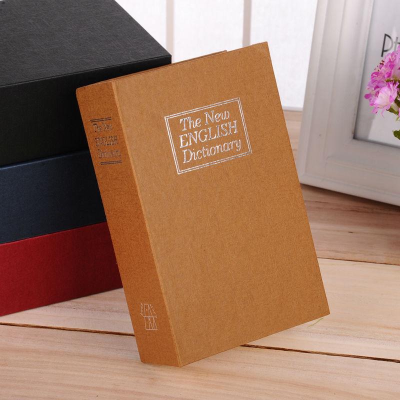 WOFO Dictionary Secret Book Piggy Bank Safes Simulation Money Jewelry Insurance Storage Boxes with Key Lock 26.5*20*6.5 CM