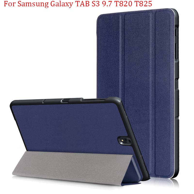 Magnetic Case For Samsung Galaxy TAB S3 9.7 T820 T825 9.7Inch Smart Cover Tablet PU Stand Case Handrest Cover Bag Folding
