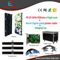 Outdoor P6.25mm Full Color Rental Stage Screen LED Display Panel 500x1000mm Die-Casting Aluminum  LED Video Display Cabinet