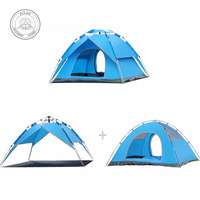 Outdoor double camping full automatic double spring 3 4 person beach camping tent Essential tents for hiking, climbing and out