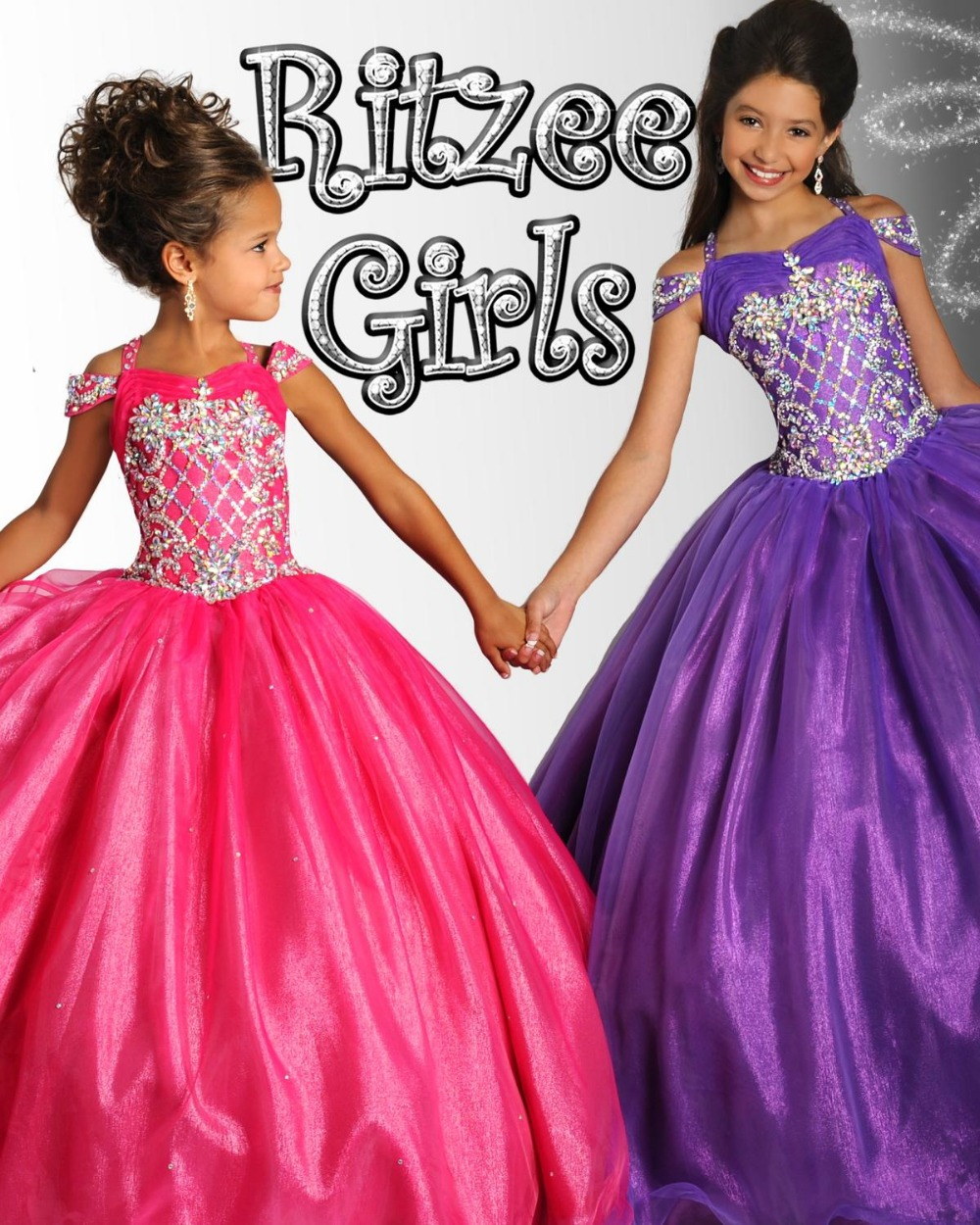 Newest 2015 Cute Little Girls Ball Gown Pageant Dresses
