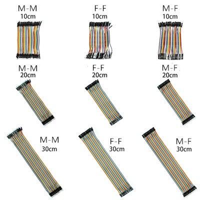40PIN 10 см 20 см 30 см Dupont Line Male to Male + Female to Male и Female to Female Перемычка Dupont провод кабель для PCB DIY KIT